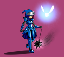 Mysterious Blue Armor pt. 1 by Suweeka