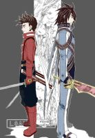 ToS Lloyd and Kratos Coloring by RikaAurion