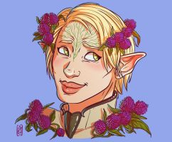 Elora - flower portrait commission by iisjah