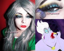 Halloween makeup look Disney Villain Ursula by cherrybomb-81