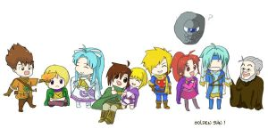 Golden Sun Chibis by flyingpiggs