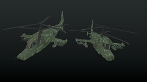 Kamov KA-50 colorised WIP by betasector