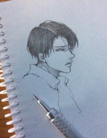 Rivaille sketch by 69XuXu69