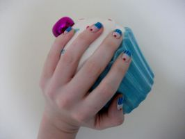 Cup Cake Nails by RoxysSlushPuppie