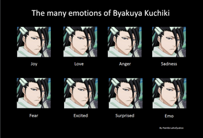 The many Emotions of Byakuya Kuchiki by paintbrushofjustice