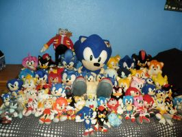 My Sonic Plush Collection Update 2012 by DarkGamer2011