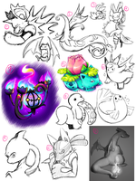 Pokemon Sketch Dump by NauticalSparrow
