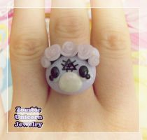 Pastel goth bear ring by Galadriel89
