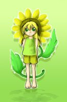 Sunflower Anime Child by Minikoh