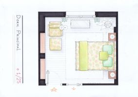 Arantxa's Bedroom Plan by nikneuk
