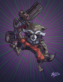 Rocket Raccoon by Puekkers