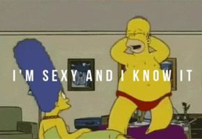 Homer Simpson belly dancing (GIF file) by Pervertix