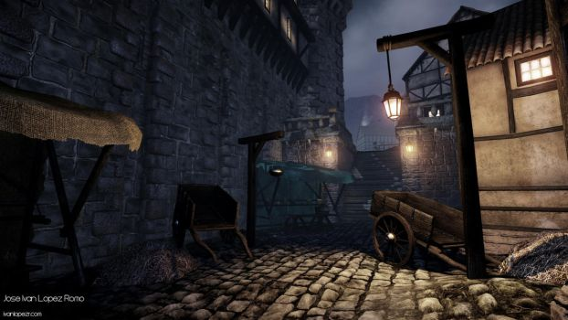 Night Castle Environment - CryEngine - Shot 06 by Zhibade