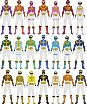 Additional Goseigers by Taiko554