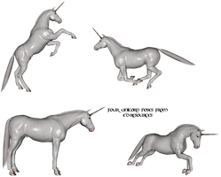 Mythology set one - Unicorns by ED-resources