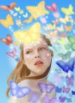 Girl dreams of being butterfly by nienor