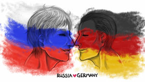 Russia Germany by fellow-traveller