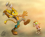Ratchet and Clank - Ho noes! by JemiDove
