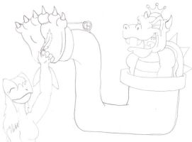 Tickling the King of Koopas by zp92