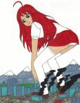 Request - Sakura Crunches a City by MasterOfRa