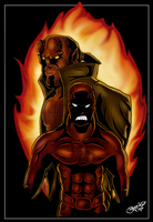 Daredevil Hellboy Final by BouncieD