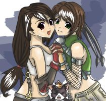 Tifa and Yuffie by Kuroi-Rabbit
