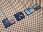 My Chemical Romance album necklaces by InsaneJellyBean95