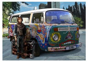 The Hobbit: VW Transporter T2 by momofukuu