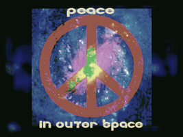 Peace in Outer Space by reddartfrog