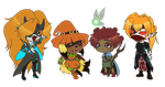 Group Birthday Chibis! by AnatomicalAndrogyny
