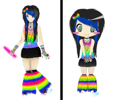 Rave Outfit For MetroCon by StarTrippy