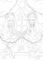 Mirror Doll .:Lineart:. by Angelic-Blossoms