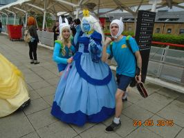 Fionna, Ice Queen and Finn Cosplayers by KoreeluStromboli