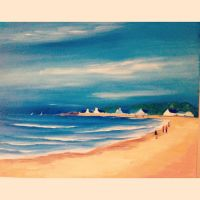 A walk by the beach :) by artbyanniee