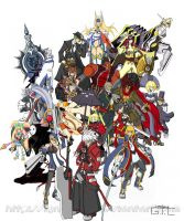 BlazBlue  playable characters by LynxKano