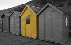 Beach Huts by lensenvy62