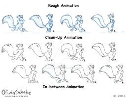Examples of Animation with the Squirrel by Animator-who-Draws