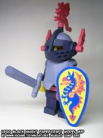papercraft LEGO Black Knight WIP15 by ninjatoespapercraft