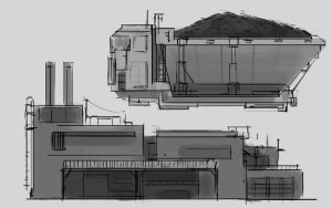 mine city sketches by St-Pete