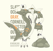 Ripped Sea Monster by OutLeaf