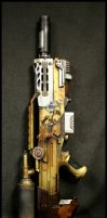 Steampunk Heavy Rifle Progress by JohnsonArms