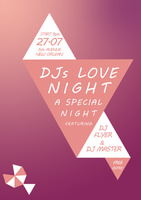 DJs Love Night poster by G0ldenART