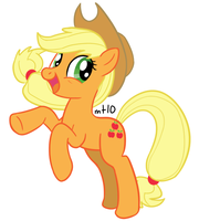 Rampant Applejack by empty-10