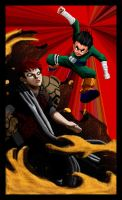 Rock Lee vs Gaara by VimislikArt