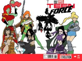 Teen Force 1 - Teen Mom Variant by Inspector97 by NotMyArt-ButMyIdea