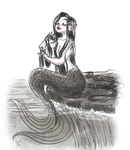 mermaid sketch by suzzannnn