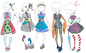 OPEN (2/5) Neo-Japanese Adoptable Outfit Designs by 77SAR77