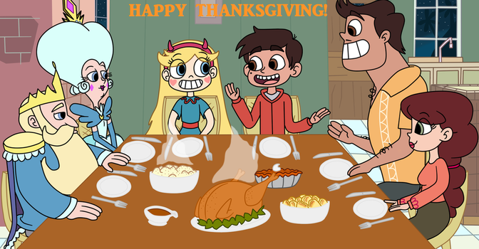 Happy Thanksgiving, Diaz and Butterfly family by Deaf-Machbot