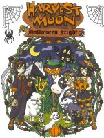 Harvest Moon Halloween Night by grandmasterfunk