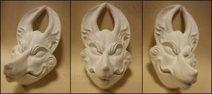 Wolf Mask, Uncolored by EllieOkamoto
